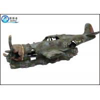 Quality Plane Model Separated 2 Parts Artificial Ornaments For Aquarium Cool Fish Tank Decoration for sale