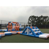 China Blue / White Giant Inflatable Water Park Hot-Welding Technique For Sea Floating on sale