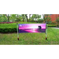 Quality Advertising Outdoor Banner Stands With Spike / Twist Custom Width Height for sale