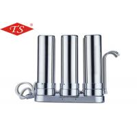 Quality 10 Inch Three Stage Water Filter Parts Stainless Steel Desktop Faucet for sale
