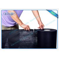 Quality 1.5OZ Black Perforated Polypropylene Spunbond Non Woven Fabric For Dust Cover for sale