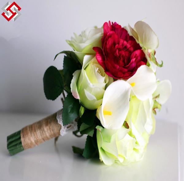 Buy Floral Artificial Faux Bridal Bouquet Wedding Flower at wholesale prices