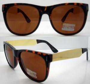 Quality 400UV Big Lens Classical Plastic Frame Sunglasses For Men for sale