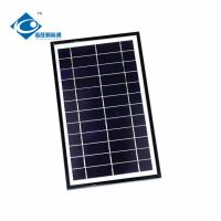 Quality Black Residential Solar Power Panels / Aluminum Profile Solar Panel Frame 7W 6V for sale