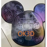 Quality OK3D Lenticular plastic soft printing picture flexible 3d flip zoom morph motion animation lenticular printing service for sale