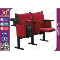 Quality Steel Leg Center Distance 520 mm High School Classroom Furniture Lecture Hall Chair for sale
