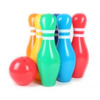 Quality 0.2mm Thickness Colorful Inflatable Kids Toys 20'' Bowling Pins Leak Resistant for sale