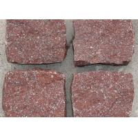 Quality Red Porphyry Granite Cobblestone Pavers , Block Paving Edging Kerb Stones for sale