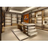 Quality Handbag Showroom Display Cases White Wooden Plus Veneer Stainless Steel Material for sale