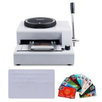 Quality 2016 new hot sale low price manual credit card embossing machine for sale