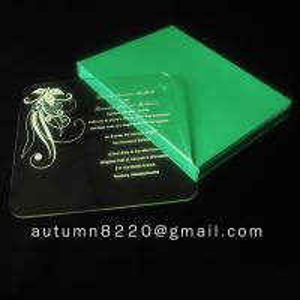 Quality beautiful acrylic invitation for sale
