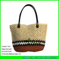 China LUDA fashion straw tote bag paper straw crochet summer handbag on sale