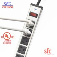 """Buy 24"""" Horizontal Metal Multi Socket Extension Lead Grounded 16 Way With Circuit at wholesale prices"""