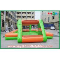 China Colorful Soccer Goal Inflatable Obstacle Course Inflatable Soap Football Field on sale
