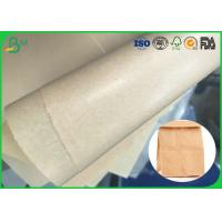 Quality Safe And Harmless 30gsm 35gsm 40gsm Brown Kraft MG Paper For Making Food Packages for sale