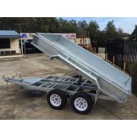 Quality 2000kg 10 X 5 Tandem Trailer / Galvanised Tipper Trailer With Checker Plate Rolled Body for sale