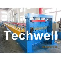 Quality 0.8 - 1.5mm Steel Metal Floor Decking Sheet Roll Forming Machine For Roof Floor Deck for sale