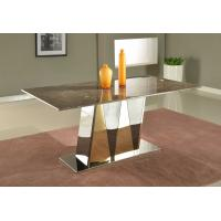 Buy cheap Luxury Office Furniture Marble Dining Tables Marble Top Contemporary Dining from wholesalers