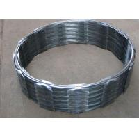 Quality Hot Dip Galvanized Barbed Wire CBT60 , Single Coil Razor Mesh Fence for sale