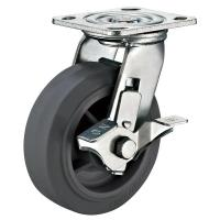 """Quality 5"""" x 2"""" Heavy Duty Caster Wheels With Locks Side Swivel Top plate Fitting for sale"""