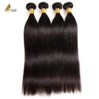 Quality 10A Weave Hair Bundles Natural Color , Smooth Straight Virgin Keratin Hair Extensions for sale