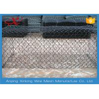 Quality Hexagonal Rock Gabion Baskets , Gabion Fence Panels Various Mesh Size for sale