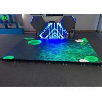 Quality P4.81 disco LED dance floor display rental , led stage floor anti-collision for sale