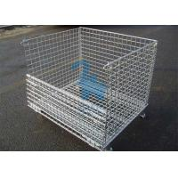 Buy Fireproof Wire Mesh Storage Cages Containers For Hardware Tools 1500kgs Loading Capacity at wholesale prices