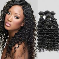 Quality Wet And Wavy 100 Indian Human Hair Weave With Unprocessed Natural Curly for sale