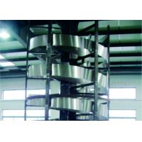 China Flexible Industrial Conveyor Belt Systems Vertical Screw - Lift Strong Structure on sale