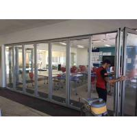 China Pre - Finished Frameless Glass Wall 3000mm Height Satin Anodised Finished on sale