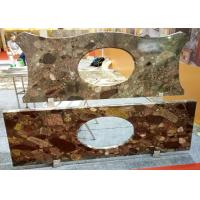Quality Mosaic Bathroom Vanity Countertops Commercial Grade Polished / Honed Surface for sale