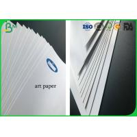 Quality 80g To 400g Two Sides Coated Roll White Glossy Art Paper In Large Size for sale