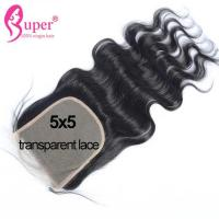 Buy 22 Inch Virgin Human Hair Extension Transparent Swiss Lace Top Closure Bleach Knots at wholesale prices