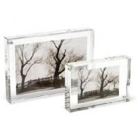 Quality Crystal Picture Clear Acrylic Frames With Beautiful Shape for sale