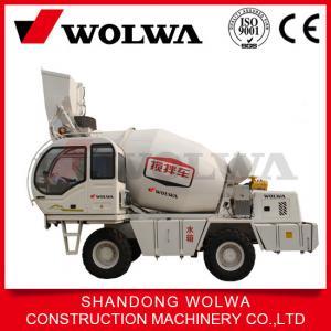 China hot sale self loading concrete mixer 4CBM mixing volume GNJB400 on sale