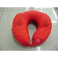 Buy Comfortable Red Music Massage Pillow , U Shape Mp3 Pillow Massager at wholesale prices