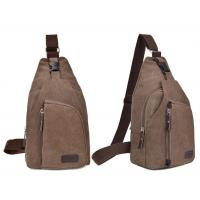 Quality Men Single Strap Backpack For Outdoor Sports , Durable Brown Crossbody Bag ISO9001 for sale