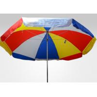 Quality Rainbow Large Outdoor Parasol Umbrella With Heat Transfer Printing , Polyester Fabric for sale