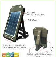 Quality Portable Travelling Solar Charger w / USB Charging Cable for sale