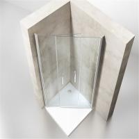 Buy Low Price Bathroom Simple Sliding Curved Shower Enclosure for Sale at wholesale prices