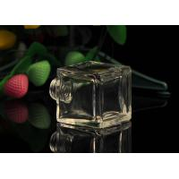 Buy Classic Square Empty Small Glass Perfume Bottles With Screw Top , 50ml Volume at wholesale prices