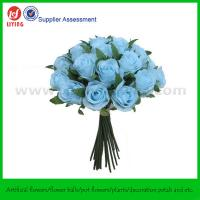Quality Artificial Roses Valentine's Day Bouquet in Light Blue X26 heads for sale