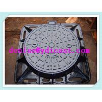 China Ductile iron/cast iron manhole cover sewer cover with Lock EN124 on sale
