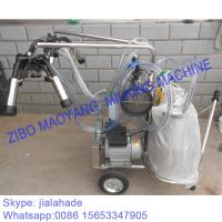 Buy cheap For EU market,Vacuum Pump Typed Double Buckets Mobile Milking Machine,good price portable milking machine for farms from wholesalers