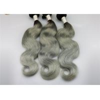 "Quality 1b / Gray Remy Human Hair Extensions Two Tone Color 16"" - 24"" Fashion Style for sale"