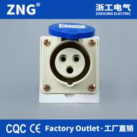 China 32A 230V 3Pins wall mount industrial socket weatherproof, surface mounting industrial electrical socket 32A 2P+E for sale