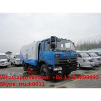 Quality 2018s cheapest price dongfeng RHD 170hp diesel 8-10tons road sweeping vehicle for sale, street sweeper cleaning  truck for sale