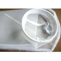 Quality Water Purification Processing Nylon Mesh Filter Bags 50 Micron With SS Seal Ring for sale