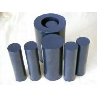 Quality 100mm Width Black Teflon Rods / PTFE Rod For Chemical , Self Lubricating for sale